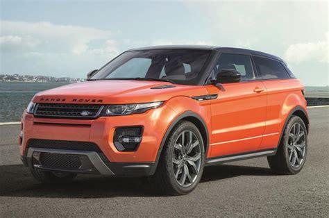 burnt orange range rover land rover ups evoque power and prestige with