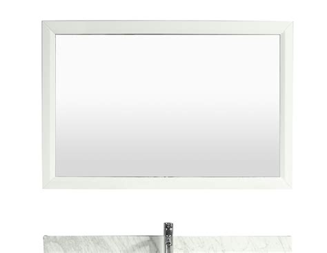 white framed bathroom mirror eviva aberdeen 48 quot white framed bathroom wall mirror