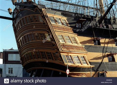 ship of the line hms victory first rate ship of the line aft decks stock
