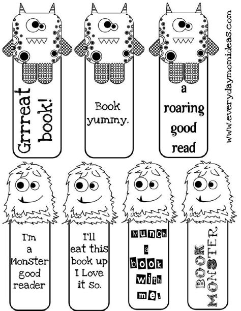 printable halloween bookmarks to color 4 best images of printable halloween bookmarks to color