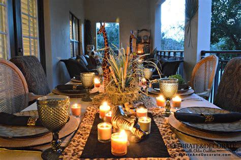 themed dinner party kits safari party or jungle party perfect for an outdoor summer