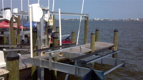 aluminum fishing boat lift aluminum dual pwc lift at boat lift distributors the