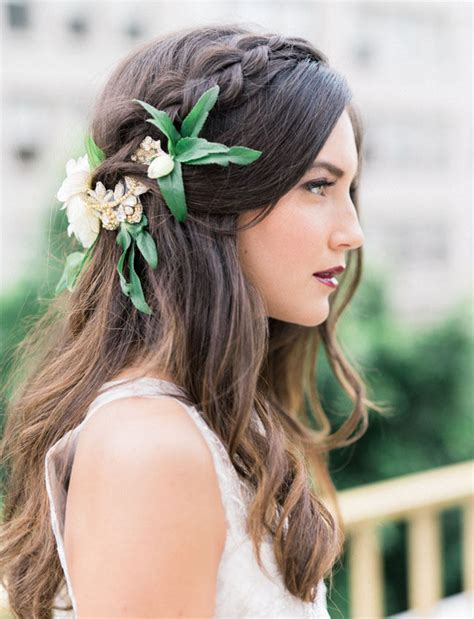 stylish eve flower braids 20 gorgeous wedding hairstyles with flowers everafterguide