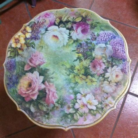 Decoupage With Fabric Tutorial - 17 best images about decoupage on