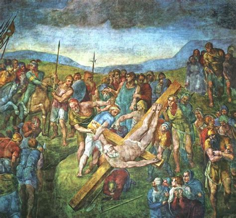 libro michelangelo the complete paintings michelangelo buonarroti the martyrdom of st peter