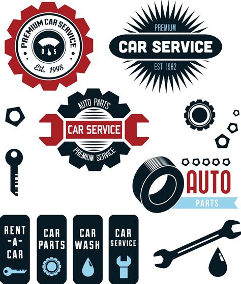 car service logo logo clipart auto repair pencil and in color logo
