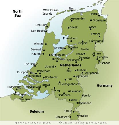 netherlands map and cities netherlands map