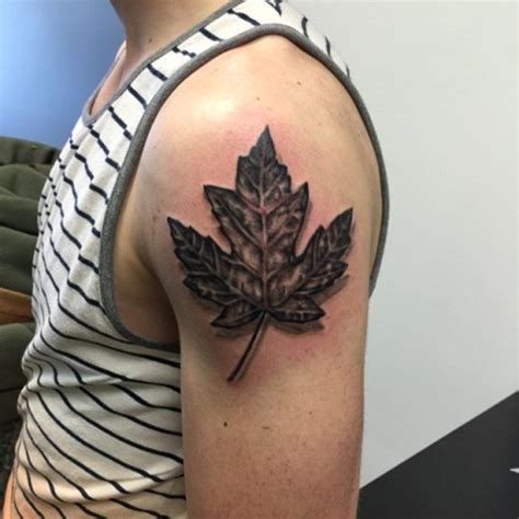 90 leaf tattoos that celebrate the fall