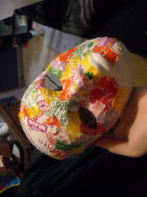 Decoupage Mask - a wrapper mask 183 how to make a mask 183 decoupage on