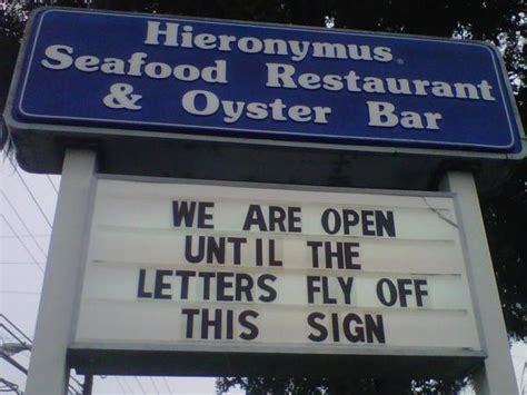 Letter Closing Until Then Wilmington Nc Restaurant Sign Challenges Hurricane Irene