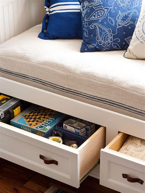 window seat with storage drawers easy solutions to decorate a small space 2013 storage