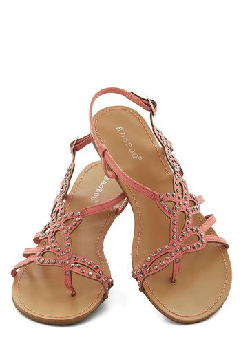 girly flat shoes that girly glimmer sandal in pink mod retro vintage
