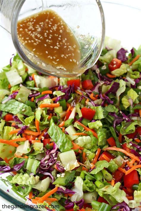 Garden Salad Recipe Ideas Asian Chopped Salad With Sesame Vinaigrette Vinaigrette Salad And Asian