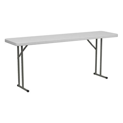 72 folding table flash furniture 18 quot x 72 quot plastic folding table white
