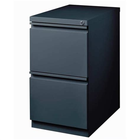 Portable File Cabinet 2 Drawer Mobile File Cabinet In Charcoal 19328