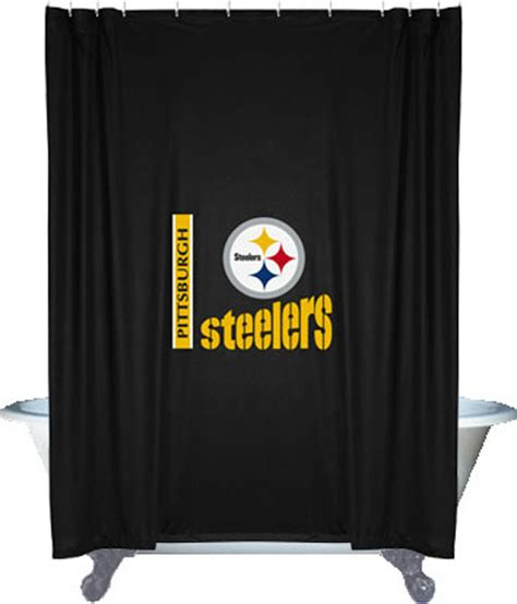 steelers bathroom new nfl pittsburgh steelers decorative shower curtain