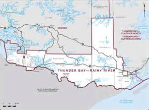 thunder bay rainy river maps corner elections canada