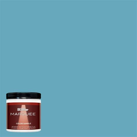 Behr Marquee Interior Reviews by Behr Marquee 8 Oz T15 11 Sonic Blue Interior Exterior Flat Matte Paint Sle Mq30416 The