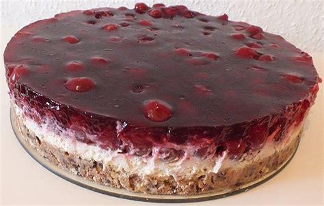 rezept kuchen mit kirschen prinzenrolle torte mit kirschen rezept mit bild