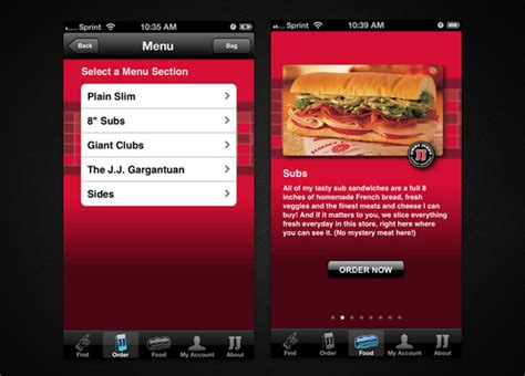 Jimmy John S Gift Card Balance - 15 retail restaurant apps that are actually useful 171 iphone appstorm