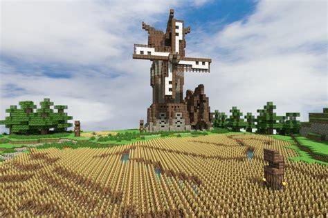 Wall Blueprints Medieval Windmill Minecraft Project