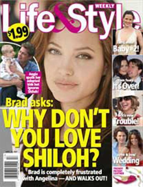 Brad To Angie Why Dont You Shiloh Lifestyle Magazine by No Quiere A Su Hija Shiloh Farandulista