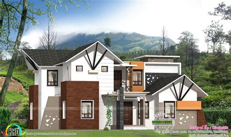 resort type house design resort type mix roof home plan kerala home design and floor plans