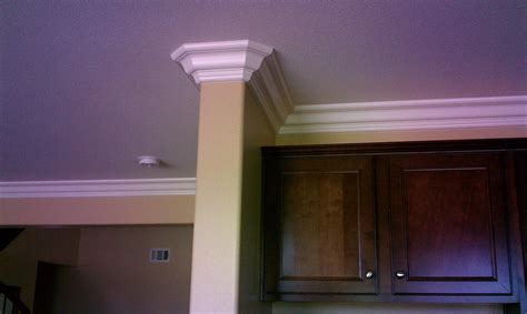 cabinet outside corner molding this is a 6 quot crown molding wrapping around a wall and