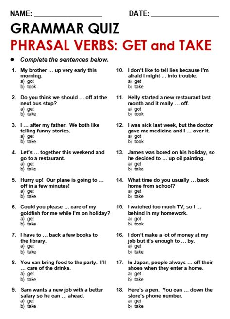 60 useful phrasal verbs with take with meaning and phrasal verbs with get all things grammar
