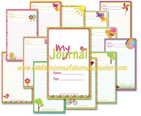 printable summer journal pages free journal printables for kids kids activities