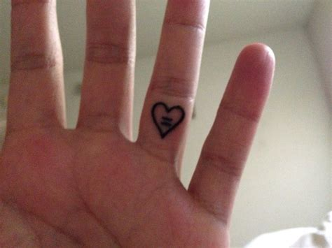 equal tattoo on finger best 25 equality tattoos ideas on pinterest straight