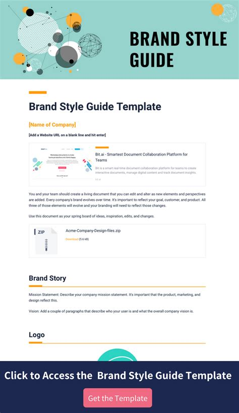 Style Guide Template Word by Brand Style Guide Template Gallery Professional Report