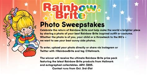 Rainbow Sweepstakes - rainbowbrite net welcome to rainbow land