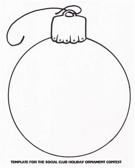 holiday ornament template christmas templates