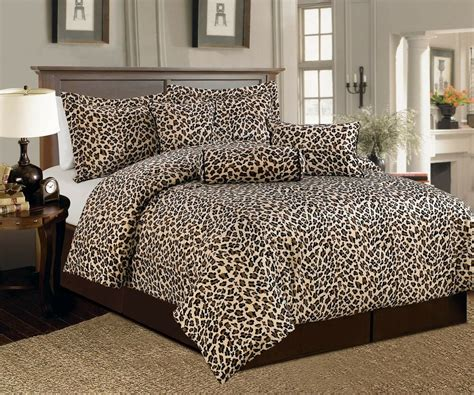 Leopard Print Comforters by 7 Pc Brown Beige Leopard Print Faux Fur Comforter