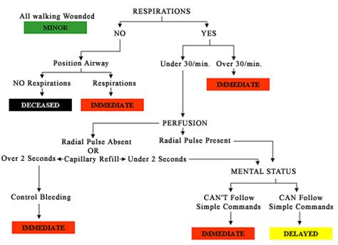 triage flowchart mass casualty incidents triage preparedness