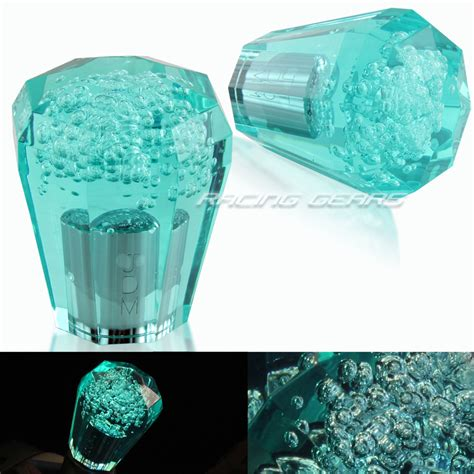Teal Shift Knob by Jdm Vip 60mm Transparent Mt Teal Octagon