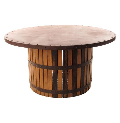 wood barrel table inactive product kathy kuo home