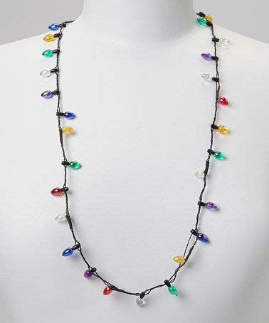 christmas bulb light up necklace