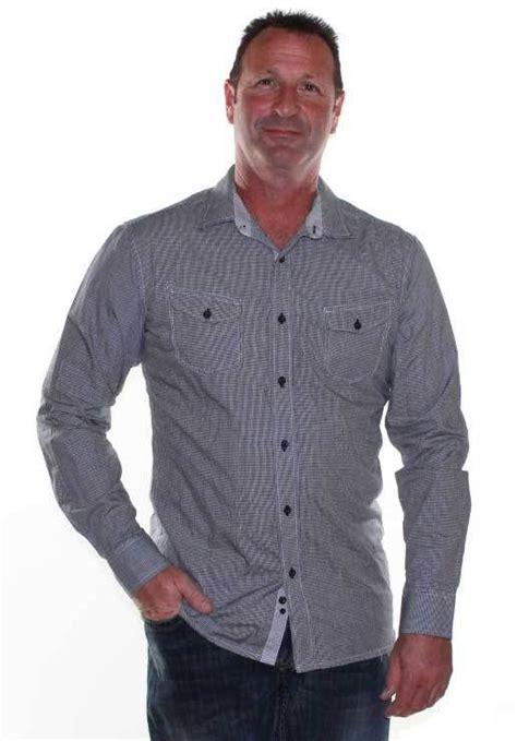 sz s m l mens blue white check casual sleeve shirt