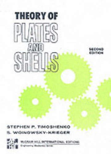 Gdd Study Section by The Theory Of Plates And Shells Mcgraw Hill Classic Textbook Reissue Series