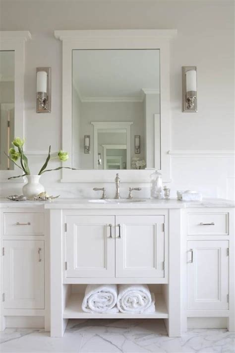 White Bathroom by White Vanity Cottage Bathroom Hickman Design