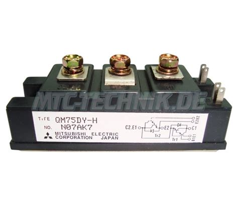 transistor module qm75dy h mitsubishi electric 75a 600v