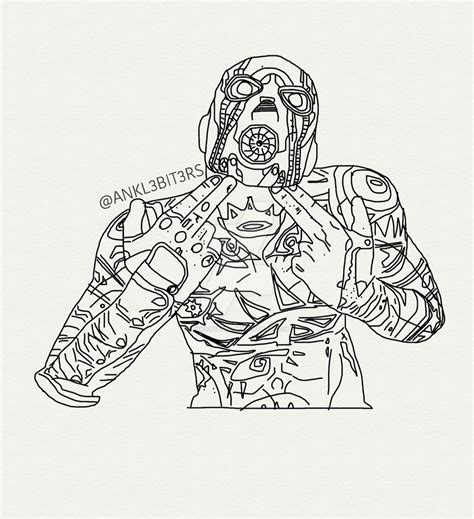zero borderlands 2 drawings coloring pages coloring pages