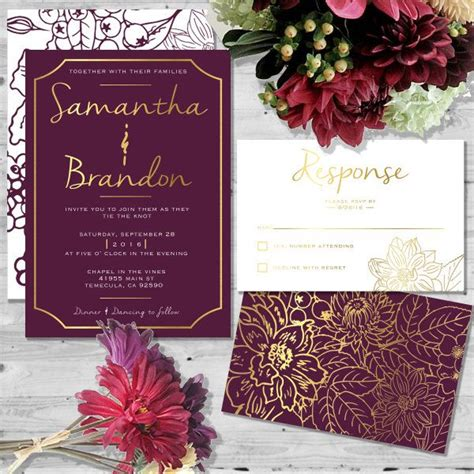 Wedding Invitation Templates Burgundy Wedding Invitations Wedding Invitations Cards Wedding Maroon Wedding Invitation Templates