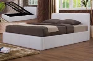 White Ottoman King Size Bed Happy Home Furnishers Birlea 5ft King Size Ottoman Bed Frame White