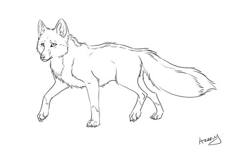 swift fox coloring page fox line art by azany on deviantart