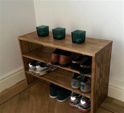 diy shoe rack diy pallet wood shoe rack pallet furniture diy