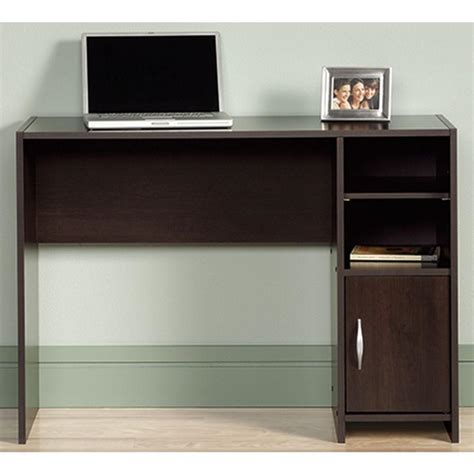 sauder beginnings computer desk cinnamon cherry finish sauder beginnings cinnamon cherry desk with storage 415817