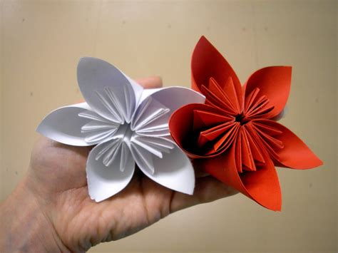 Paper Flower Steps - origami flowers for beginners how to make origami